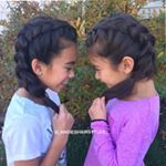 "373 Likes, 47 Comments - 🎀Angie🎀 (@_angieshairstyles_) on Instagram: ""Here is AHS2 with French braids into messy bun pigtails. 💜🎀💜🎀 I messed up parting the French braid…"""