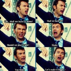 David Tennant has to be the most expressive Doctor