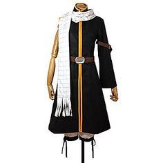 Fairy Tail Natsu Dragneel Black Cosplay Costume Set | Anime Etc