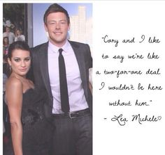 Cory Monteith and Lea Michele...❤