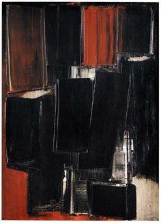 Pierre Soulages (b. 1919) Peinture, 10 Mars   1958