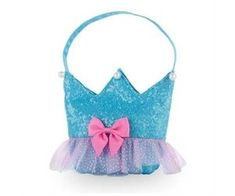 Pink Poppy Forever Sparkle Crown Handbag in turquoise with Pink Bow on the front face, lilac trim, and a turquoise strap. In The Zoo, Pink Poppies, Kids Bags, Lilac, 10 Birthday, Sparkle, Bows, Turquoise, Purses
