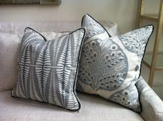 Galbraith and Paul - custom pillows in Fern and Lotus