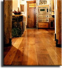 Wide Plank Wormy Chestnut Flooring used in a custom home in California