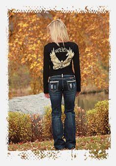 Cowgirl Tuff Western Denim Jeans Womens Glamour
