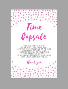 1st Birthday Time Capsule Free Printables First