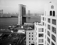 Brooklyn Bridge From the Watchtower Building in Brooklyn, 1982 New York City | #nyc #ny