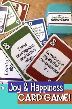 The Joy and Happiness Card Game: A fun positive psychology intervention for children and teens!