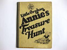 1933 OVALTINE Little Orphan Annie's Treasure Hunt Game Board