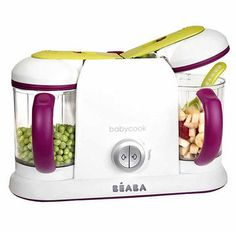 BEABA Babycook Pro 2x, $199.95; BeabaUSA.com                 Making your own baby food not only saves money, but ensures you know exactly what your babe is eating. It's never been easier than with this latest model of the popular Babycook. The machine, which is BPA- lead- and phthalate-free, lets you can make 9 cups of food in 15 minutes -- and will even defrost and reheat your frozen purees.