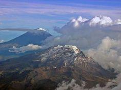 Volcanes Popocatépetl e Iztaccíhuatl, Ciudad de México, México.