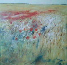 Campi d'estate 80x80 cm Luigi Torre painter 2016