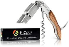 Waiter Corkscrews - Premium Stainless Steel Rosewood Waiters Corkscrew Allinone Wine Opener Foil Cutter Bottle Opener By HiCoup Kitchenware *** Read more at the image link. Best Wine Bottle Opener, Beer Bottle, Bottle Openers, Wine Stoppers, National Drink Wine Day, Wine Cellar Racks, Wine Rack, Wine Tote, Wine Drinks