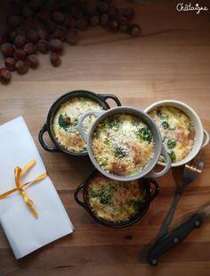 Petits flans aux brocolis et noisettes - Blog de Châtaigne