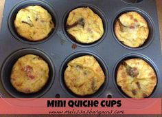 Mini Quiche Cups - Quick and easy to make and your kids can help!