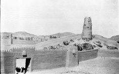 Hail, Entrance gate, walls and watch tower, March 1914, Gertrude Bell Archive, Newcastle University