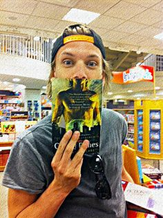 The Mortal Instruments: City of Bones. Jamie Campbell Bower with his City of Bones Book ~ April 2013