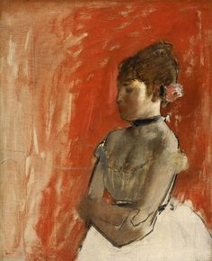 #Ballet #Dancer with Arms Crossed by Edgar #Degas, #oil on #canvas c. 1872, High-Resolution Fine #Art #Poster #Prints . #fineart #impressionism #impressionist #dancer #ballerina #ballet #degasdancer #painting #reproductions #posters #oilpainting #tutu #dance #red