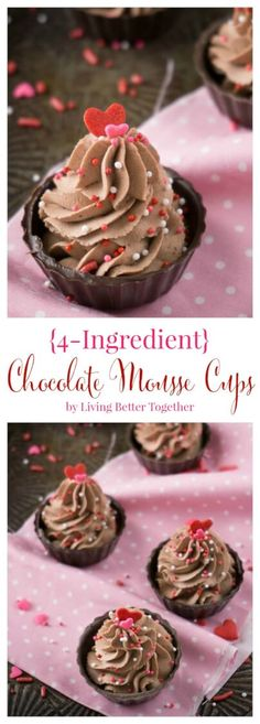 4 Ingredient Chocolate Mousse Cups
