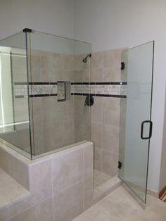 Glass Shower Door Design Bathroom Idea With Light