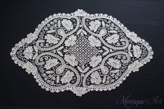 Point lace crochet tablecloth