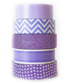 Loving this Purple Haze Washi Tape - Set of Five on #zulily! #zulilyfinds