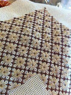 Blackwork Embroidery, Beaded Embroidery, Cross Stitch Embroidery, Hand Embroidery, Embroidery Designs, Drawn Thread, Thread Art, Bordado Tipo Chicken Scratch, Cross Stitch Needles