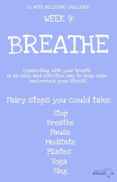 Keep calm and reduce stress. Challenge Week, Just Breathe, Reduce Stress, Improve Yourself, Challenges, Mindfulness, Education, Calm, Onderwijs