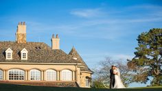 Bride and Groom with majestic St Ives Country Club as a backdrop. AC Studio Photography by Aleksey Chernenko Wedding Photo Gallery, Elegant Centerpieces, St Ives, Post Wedding, Beautiful Moments, San Francisco Skyline, Destination Wedding, Backdrops, Groom
