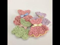 DIY Crochet little dress for baby shower - Tutorial - YouTube
