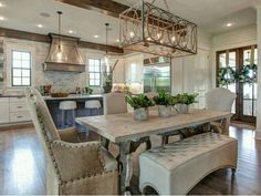 kitchen and dining room opwn plan