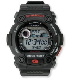 A supertough watch designed for rugged outdoor use. Features Casio's industry-leading G-Shock technology that protects it from the drops and rough use that happens on the water and in th Outdoor Apparel, Casio G Shock, Ll Bean, Sport Watches, Casio Watch, Display, Technology, Fish, Times