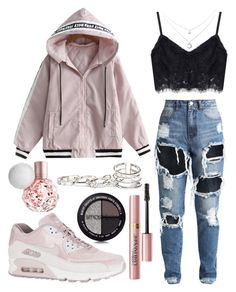"""untitled #8"" by kwharmony on Polyvore featuring NIKE, L'Oréal Paris, GUESS and Smashbox"