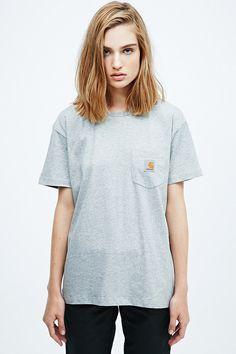 Carhartt - T-shirt gris à poche