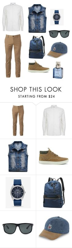 """Untitled #15"" by qwer173935 ❤ liked on Polyvore featuring Urban Pipeline, Corneliani, Timberland, Express, Ray-Ban, Stussy and Calvin Klein"