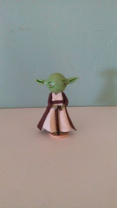 Yoda Clothespin Doll  MADE TO ORDER by LittleBun on Etsy, $20.00