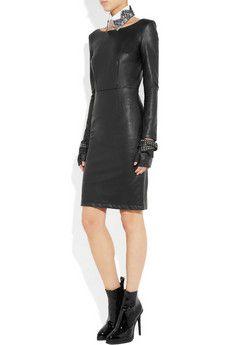 KARL  Dahli faux leather dress