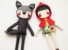Red Riding Hood rag doll. Handmade doll. Cloth doll for children. Birthday gift ideas for girls. Stuffed toy. Nursery decoration doll