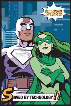 September 24: Superhero Themed Event Sponsor Poster