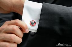 Custom Mickey Mouse cuff links with wedding date #Disney | <3 themarriedapp.com hearted <3