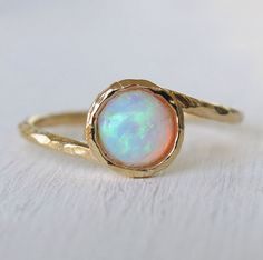 opal ring, white opal ring, gold ring, gold thin ring, gemstone ring, stacking ring, cocktail ring, bridesmaid gift, mother's day door sohocraft op Etsy https://www.etsy.com/nl/listing/184154599/opal-ring-white-opal-ring-gold-ring-gold
