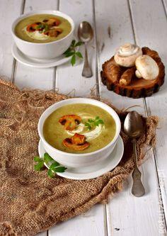 Zupa z topinamburem i pieczarkami