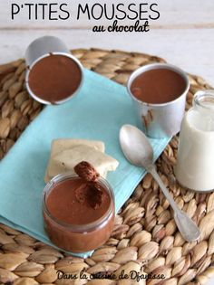 My little chocolate mousse from 12 Toddler Meals, Kids Meals, Vegan Chocolate Mousse, Compote Recipe, Baby Cooking, Tasty, Yummy Food, Baby Food Recipes, Gourmet