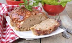 Meat loaf is often made only with beef, which is a waste of its true potential. By mixing up the ingredients, this meat loaf recipe is not only better for you, it adds some much-needed texture to this old-fashioned favourite. Meatloaf Recipes, Beef Recipes, The Dish, Banana Bread, Dishes, Vegetables, Cooking, Healthy, Desserts