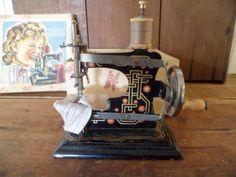 Casige Toy Sewing Machine Made in Germany NO. 0 by thelongacreflea, $165.00
