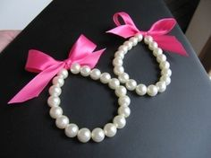 Flower Girl Bracelet pearl and ribbon also for by mmtncrfts, $8.95