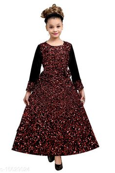 Frocks & Dresses GOWNS DRESSES Fabric: Silk Sleeve Length: Three-Quarter Sleeves Pattern: Self-Design Multipack: Single Sizes: 9-10 Years (Bust Size: 30 in, Length Size: 38 in)  Country of Origin: India Sizes Available: 3-4 Years, 4-5 Years, 5-6 Years, 6-7 Years, 7-8 Years, 8-9 Years, 9-10 Years, 10-11 Years   Catalog Rating: ★3.9 (529)  Catalog Name: Cutiepie Funky Girls Frocks & Dresses CatalogID_3112529 C62-SC1141 Code: 075-15629024-2151