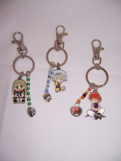 Custom Anime Keychains featuring Soul Eater and Aquarian Age Juvenile Orion's Isshin.