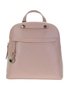 FURLA Piper Moonstone Pink Leather Backpack. #furla #bags #leather #stone #backpacks #