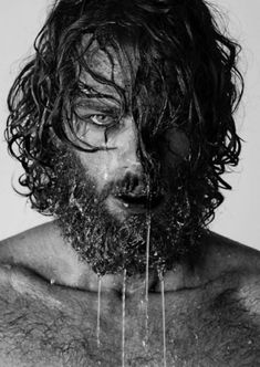 Wild man in touch with nature, beard hydration. Moodboard for Fabric-a Magazine issue3  www.facebook.com/FabricaMagazine www.fabricamagazine.com  we are looking for submissions editor@fabricamagazine.com